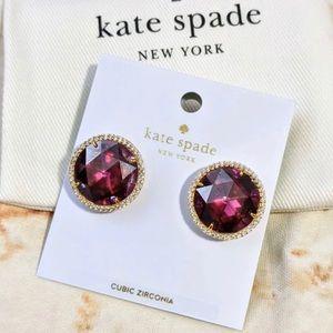 Kate Spade She Sparkles Fuchsia Earrings